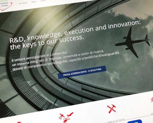 realizzazione sito lombardia aerospace cluster
