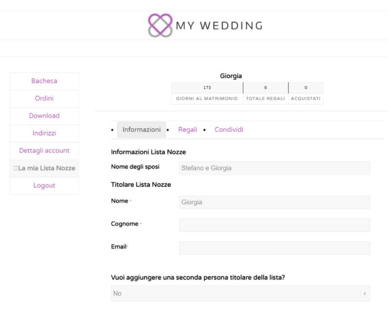 Lista nozze Viaggi My Wedding